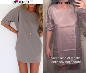 Fake dress scam on Facebook