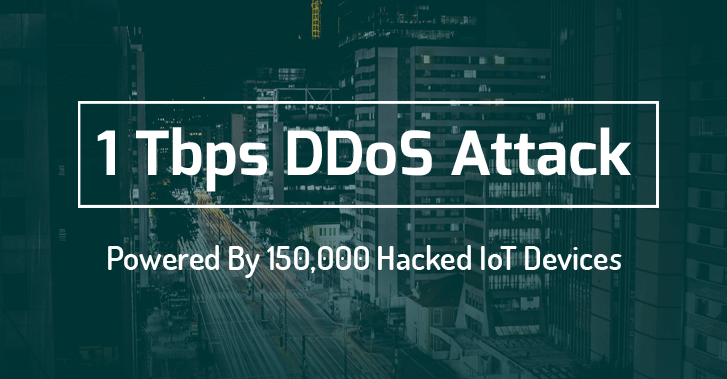150 thousand devices used in ddos attack