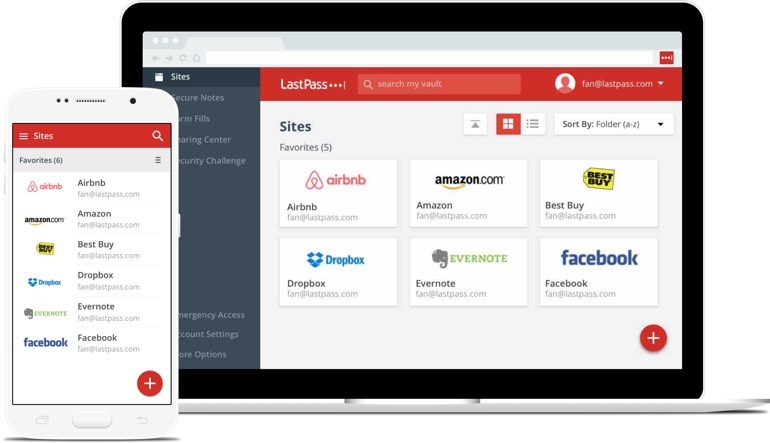 lastpass recommended password manager